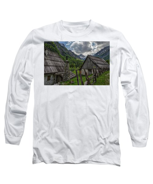 Long Sleeve T-Shirt featuring the photograph Home In The Slovenian Alps #2 by Stuart Litoff