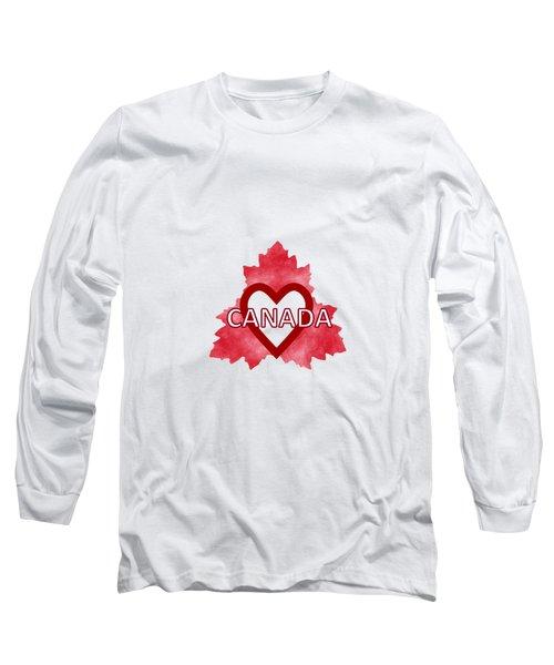 Home Sweet Canada Long Sleeve T-Shirt by Kathleen Sartoris