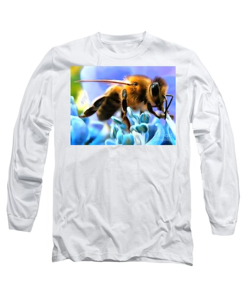 Honey Bee In Interior Design Thick Paint Long Sleeve T-Shirt