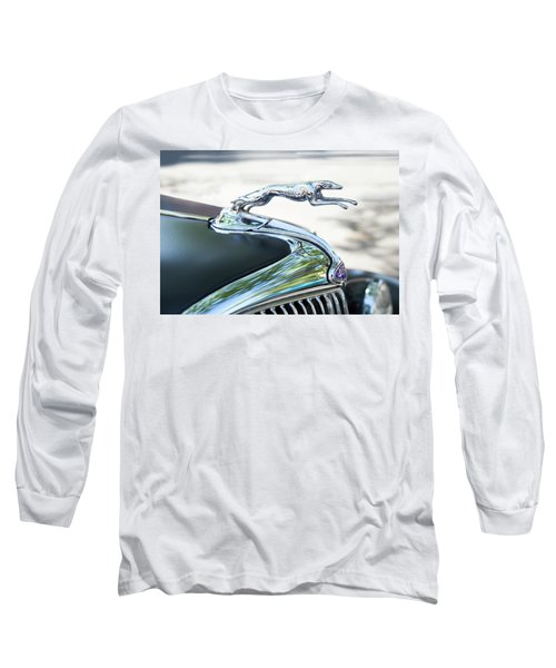 Long Sleeve T-Shirt featuring the photograph Hood Ornament Ford by Theresa Tahara