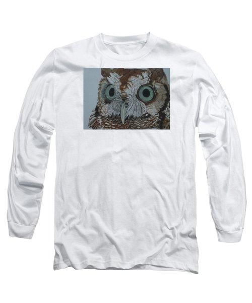 Hooty Who? - Screech Owl Detail Long Sleeve T-Shirt by Anita Putman