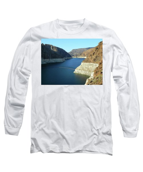 Long Sleeve T-Shirt featuring the photograph Hoover Dam In May by Emmy Marie Vickers