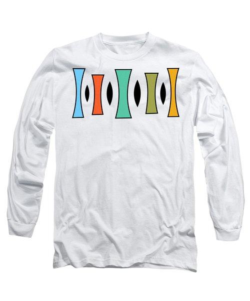Horizontal Trapezoids Transparent Long Sleeve T-Shirt