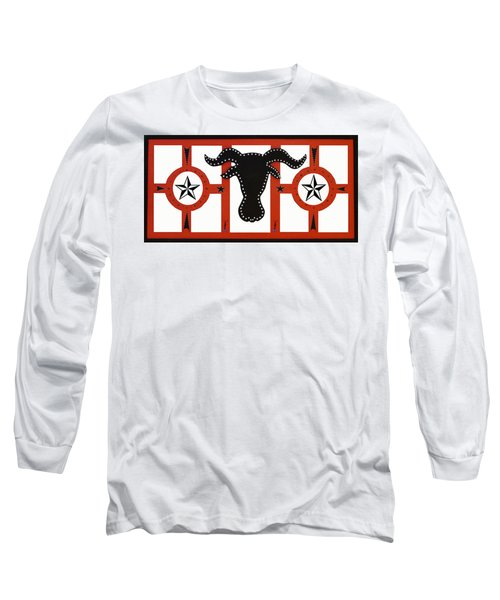 Long Sleeve T-Shirt featuring the mixed media Horn Time In Texas by Robert Margetts