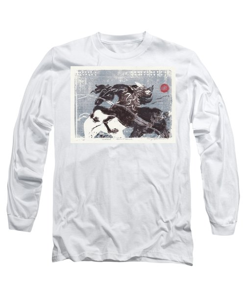 Horse And Red Sun Long Sleeve T-Shirt