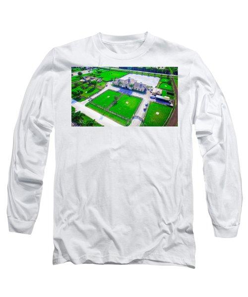 Horse Farm Aerial Long Sleeve T-Shirt