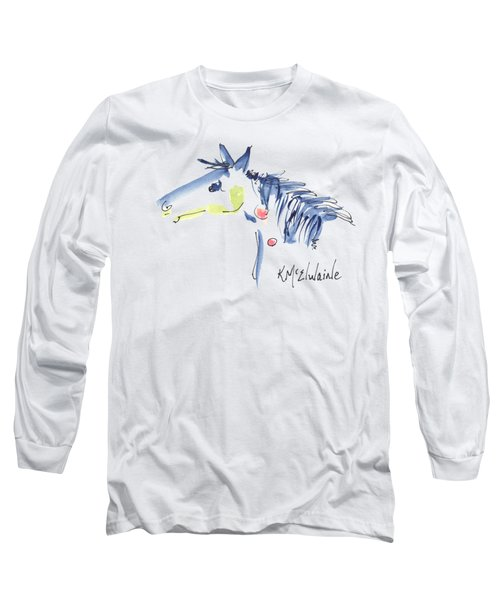 Horse Of A Different Color Long Sleeve T-Shirt by Kathleen McElwaine