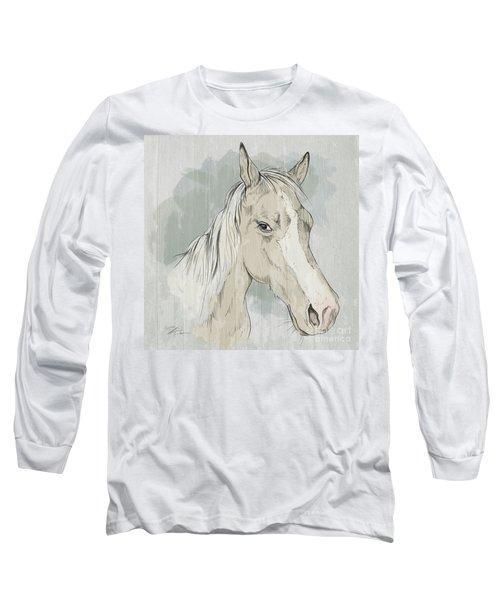 Horse Portrait-farm Animals Long Sleeve T-Shirt