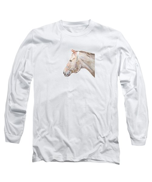 Horse Portrait I Long Sleeve T-Shirt by Elizabeth Lock