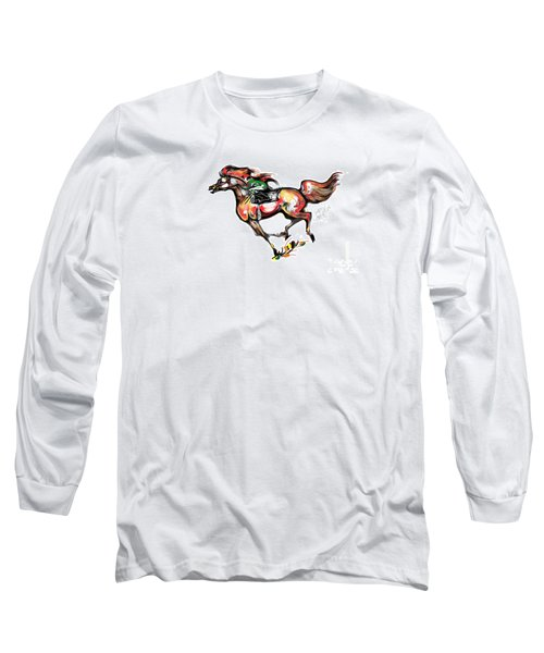 Horse Racing In Fast Colors Long Sleeve T-Shirt