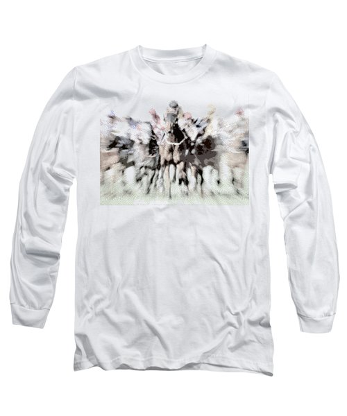 Horse Racing - Parallel Hatching Long Sleeve T-Shirt