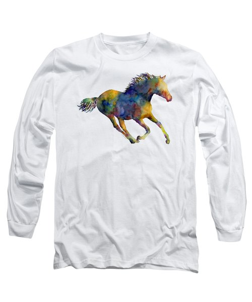 Horse Running Long Sleeve T-Shirt