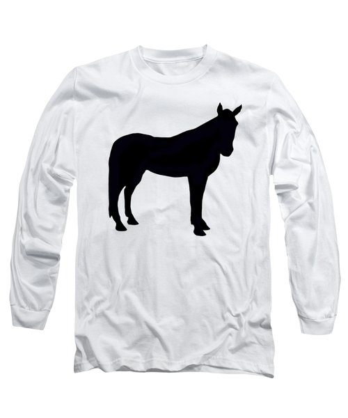 Horse Silhouette  Long Sleeve T-Shirt by Linsey Williams
