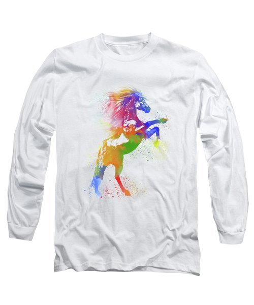 Horse Watercolor 1 Long Sleeve T-Shirt