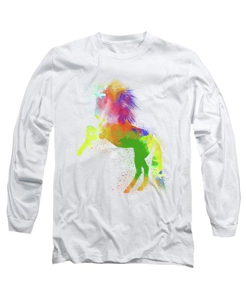 Horse Watercolor 2 Long Sleeve T-Shirt