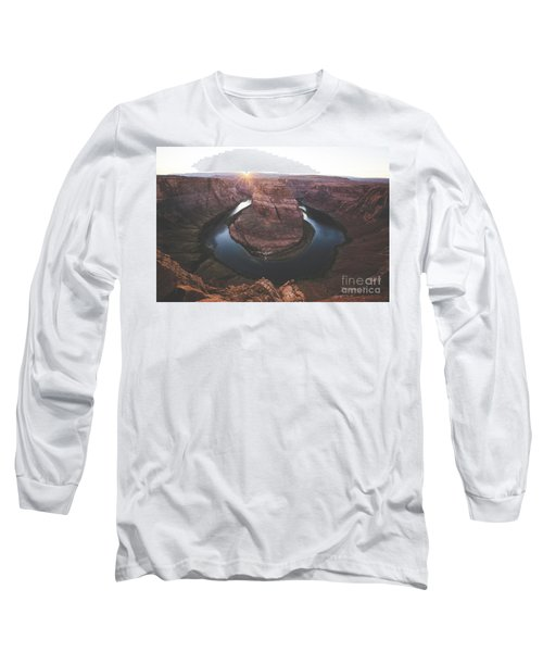 Horseshoe Bend Sunset Long Sleeve T-Shirt by JR Photography
