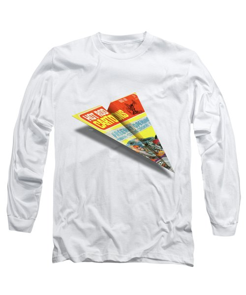 Hot Rod Cartoons 1969 03 Mad Paper Airplanes Long Sleeve T-Shirt