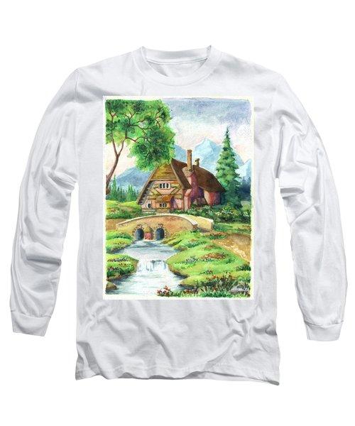 House Along The River Long Sleeve T-Shirt