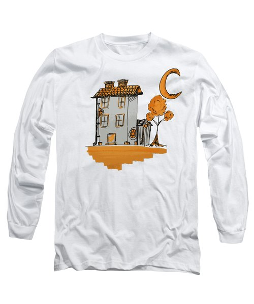 House And Moon Long Sleeve T-Shirt