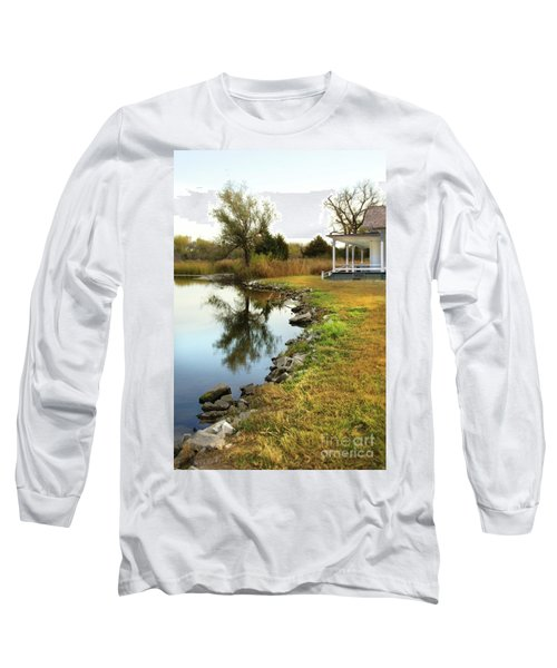 House By The Edge Of The Lake Long Sleeve T-Shirt by Jill Battaglia