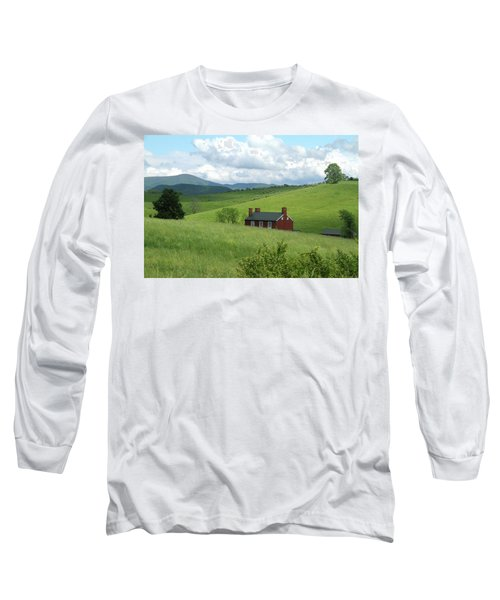 Long Sleeve T-Shirt featuring the photograph House In The Hills by Emanuel Tanjala