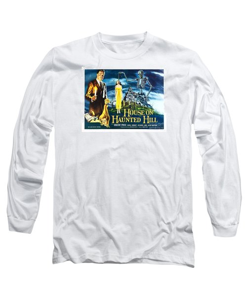 House On Haunted Hill Poster Classic Horror Movie  Long Sleeve T-Shirt