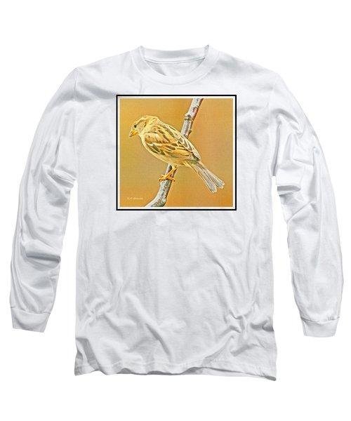 Long Sleeve T-Shirt featuring the photograph House Sparrow by A Gurmankin