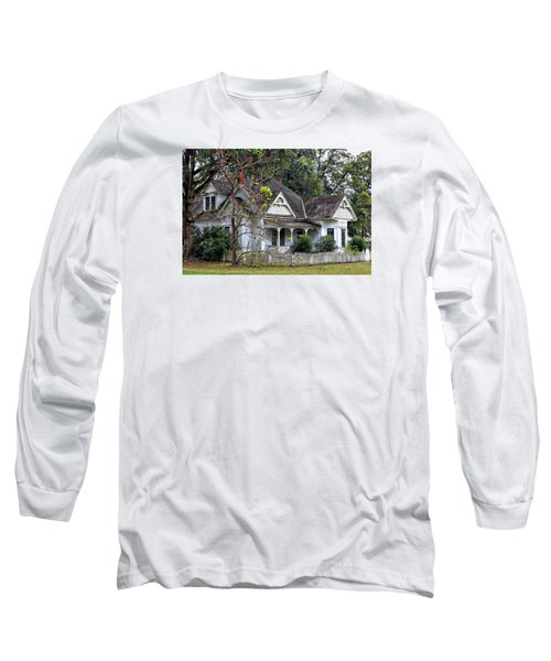 House With A Picket Fence Long Sleeve T-Shirt by Lynn Jordan
