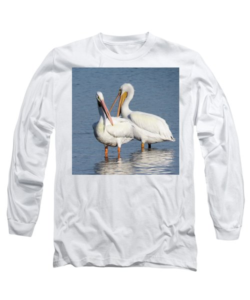 How About A Date Gorgeous? Long Sleeve T-Shirt by Rosalie Scanlon