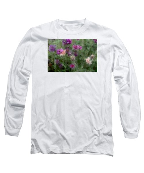 How I Love Flowers Long Sleeve T-Shirt by The Art Of Marilyn Ridoutt-Greene