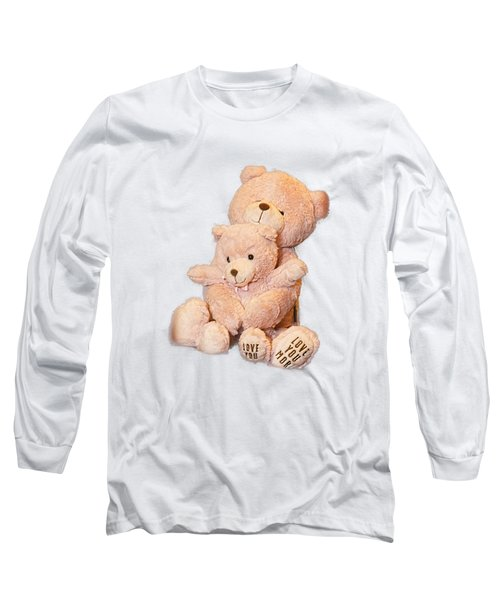 Hugging Bears Cut Out Long Sleeve T-Shirt by Linda Phelps