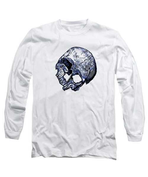 Human Skull Long Sleeve T-Shirt