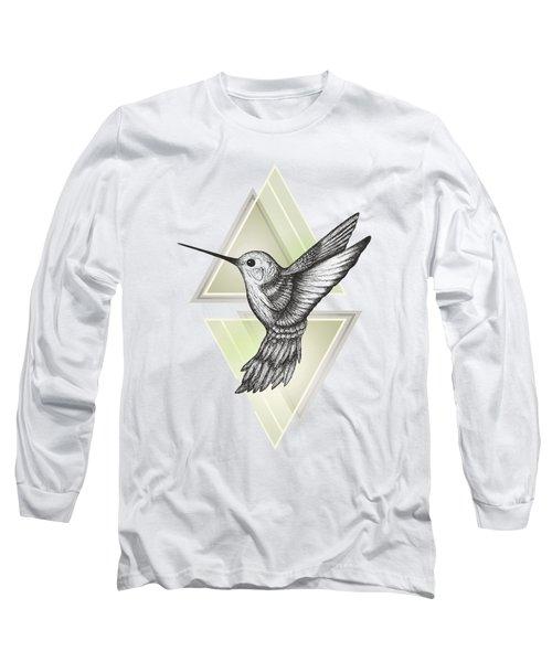 Hummingbird Long Sleeve T-Shirt by Barlena
