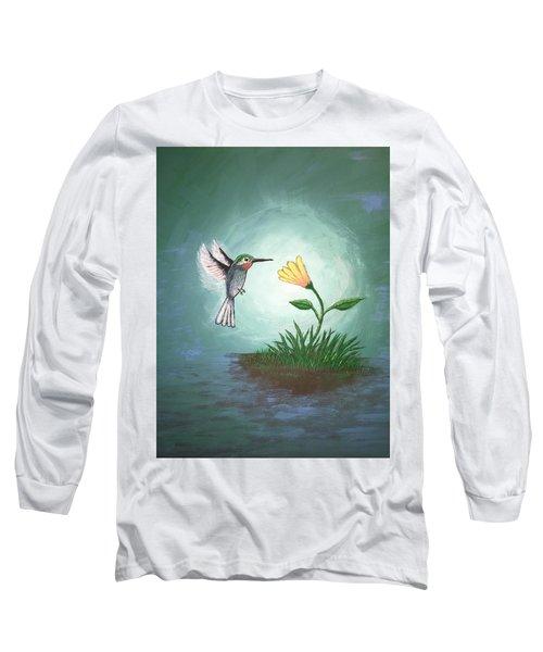 Hummingbird II Long Sleeve T-Shirt by Antonio Romero