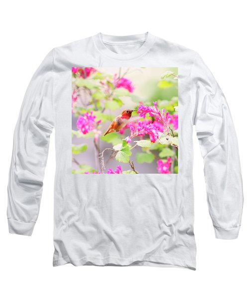 Hummingbird In Spring Long Sleeve T-Shirt