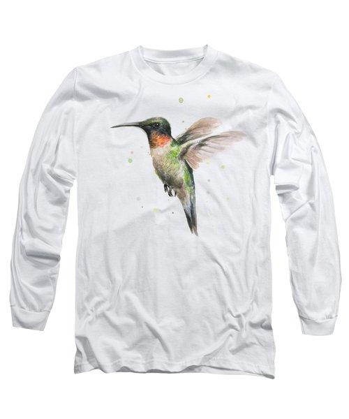 Hummingbird Long Sleeve T-Shirt by Olga Shvartsur