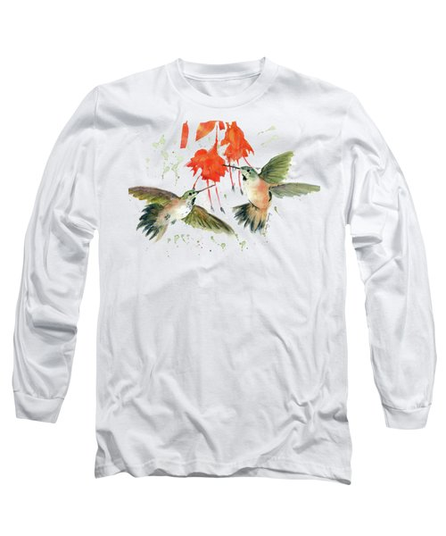 Hummingbird Watercolor Long Sleeve T-Shirt