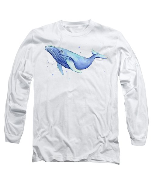Humpback Whale Watercolor Long Sleeve T-Shirt