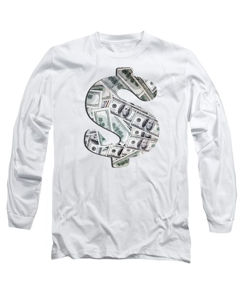 Hundred Dollar Bills Long Sleeve T-Shirt