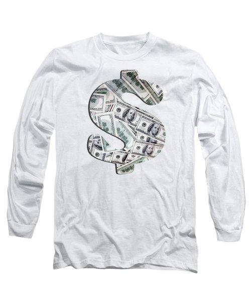 Hundred Dollar Bills Long Sleeve T-Shirt