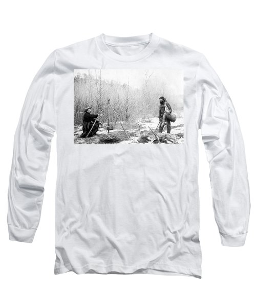 Hunting Camp Winter 1887-88 -- South Dakota Long Sleeve T-Shirt
