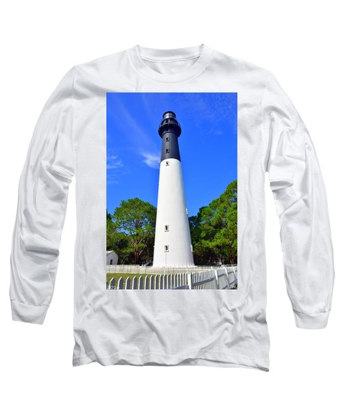 Hunting Island Lighthouse Beaufort Sc Long Sleeve T-Shirt