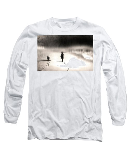 Hurry Home Long Sleeve T-Shirt by Gray  Artus