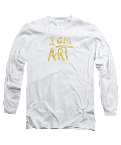 I Am Art Gold - Art By Linda Woods Long Sleeve T-Shirt