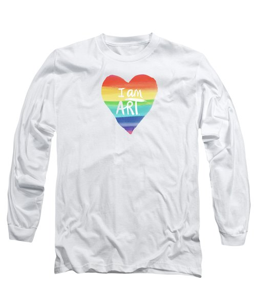 I Am Art Rainbow Heart- Art By Linda Woods Long Sleeve T-Shirt