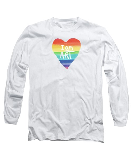 I Am Art Rainbow Heart- Art By Linda Woods Long Sleeve T-Shirt