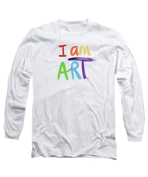 I Am Art Rainbow Script- Art By Linda Woods Long Sleeve T-Shirt