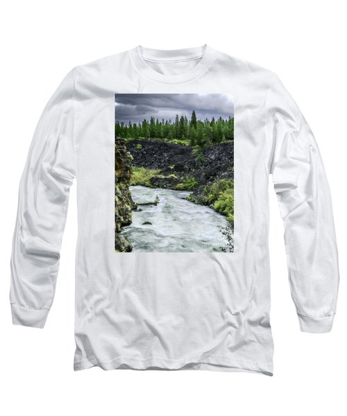 Long Sleeve T-Shirt featuring the photograph I Am River Hear Me Roar by Nancy Marie Ricketts