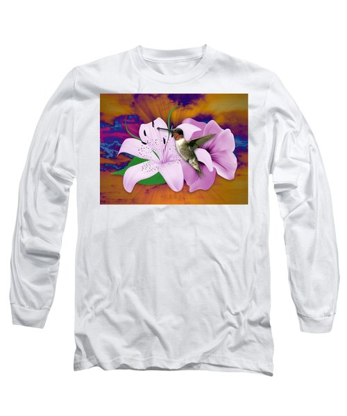 Long Sleeve T-Shirt featuring the mixed media I Believe I Can Fly by Marvin Blaine