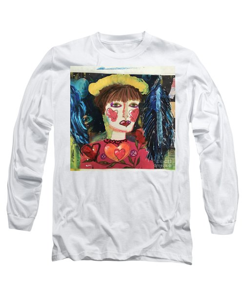 I Carry Your Heart In My Heart Long Sleeve T-Shirt by Kim Nelson